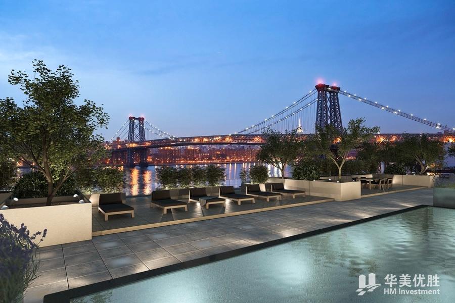 纽约曼哈顿·东河湾海景公寓